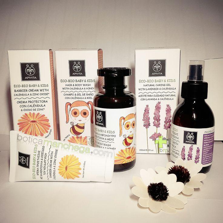 Para los peques de las casa, de lo bueno, lo mejor: Línea ECO-BIO BABY & KIDS de #Apivita  Recomendados desde los primeros meses, con un 100% de ingredientes naturales y certificado #ICEA. #ecobiocosmetics #BoticaManchega #hairwash #bodywash #gel #baño #calendula #honey #crema #miel #cream #miel #caring #oil #lavanda #aceite #cuidado #lavender #cosmetic #natural #eco #bio #baby #bebe #kids Todos los detalles, recomendaciones y consejos como siempre en la web: http://www.boticamanchega.com/