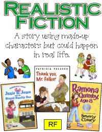 Reading genre posters - free and a game as well!  The librarian's dream!