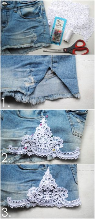 Denim + lace    Lapas - Cool Craft Hunting - Galerija - Uzlaboti džinsu šorti - draugiem.lv