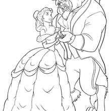 Dibujo para colorear : Baile de la Bestia