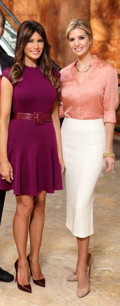 Ivanka Trump with her stepmother Melania Knauss Trump.