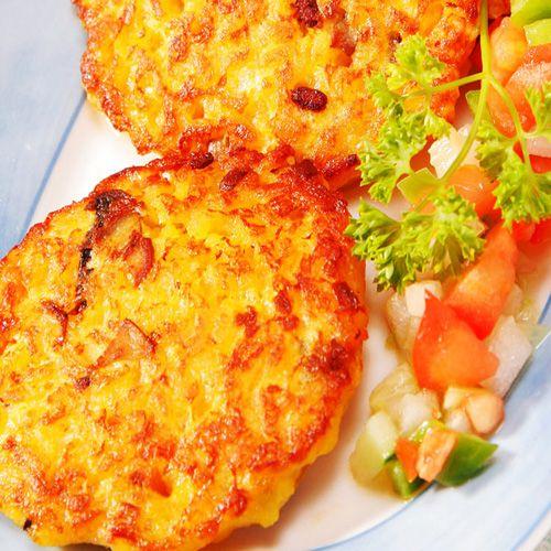 Hamburguesas de arroz - Las recomendamos con un aliño de aceite,tomate natural cortado,pimiento rojo y/o pimiento verde.