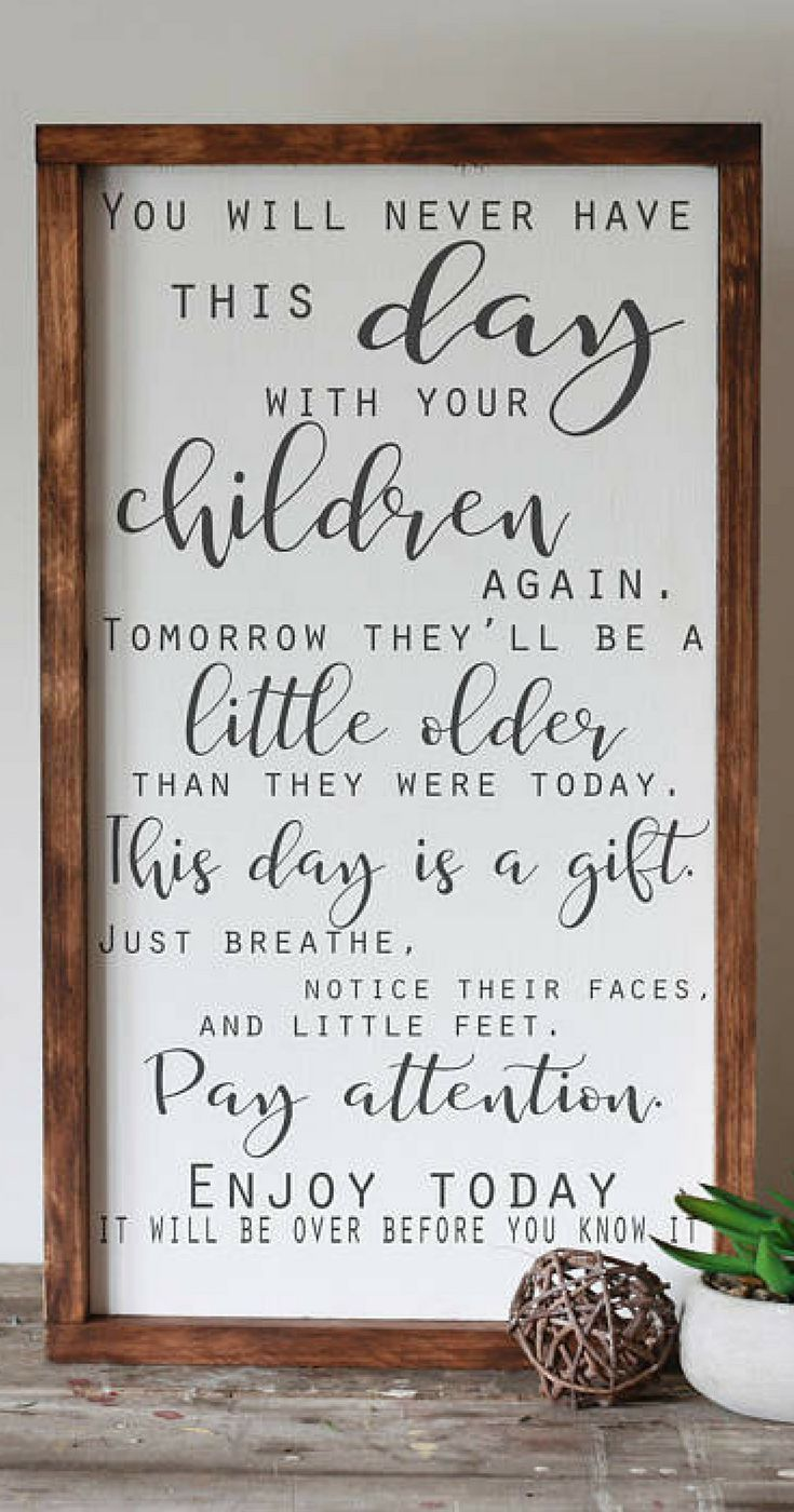 Oh so true - they're only little for such a short amount of time.. and the time flies by so quick! Let them be little, What children need most, wood sign, family decor, inspirational children quote, new mom gift - baby shower gift idea, home decor, farmhouse decor, farmhouse sign, rustic decor, rustic sign #ad