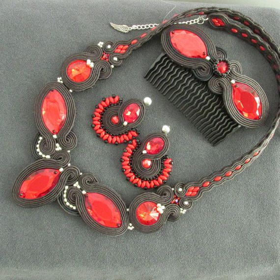 Soutache jewelry set Gift ideas Gift for sister Gift for her