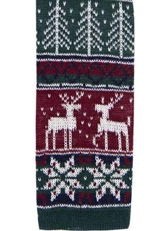 Profuomo Gebreide Stropdas kerstmotief One Size
