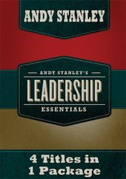 4-IN-1 LEADERSHIP ESSENTIALS DVD by ANDY STANLEY.The titles included in this series are: 1. Leading in Uncertain Times 2. Trust vs Suspicion 3. Five Big Ideas for Today's Church Leaders and 4. Becoming a Great Staff.  Available from CUM Books.