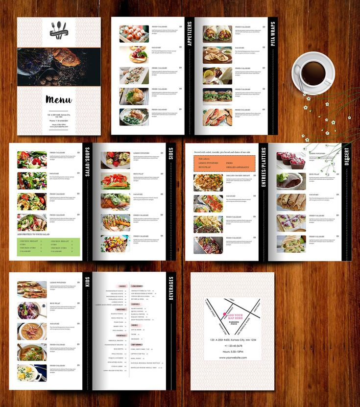 Restaurant Menu Template by AIWSOLUTIONS on @creativemarket
