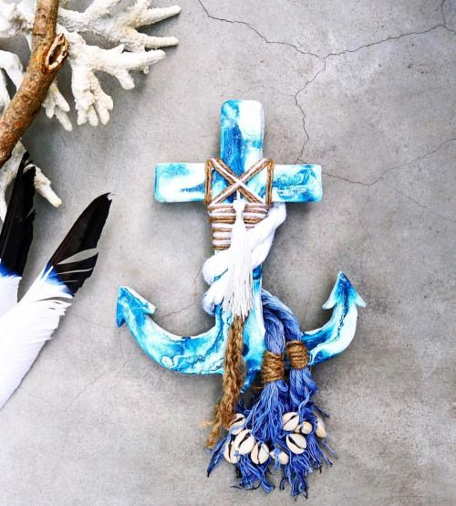 Ocean 💙 Heartbeat  Inspired by the soul of the sea, each one of these hand-painted anchors has a fluid effect making them all one of a kind!  •••  > Featured: Neptune Anchor Tribe  > Listed under: Anchors  www.aboynamedaaron.com.au  •••  Styled:...