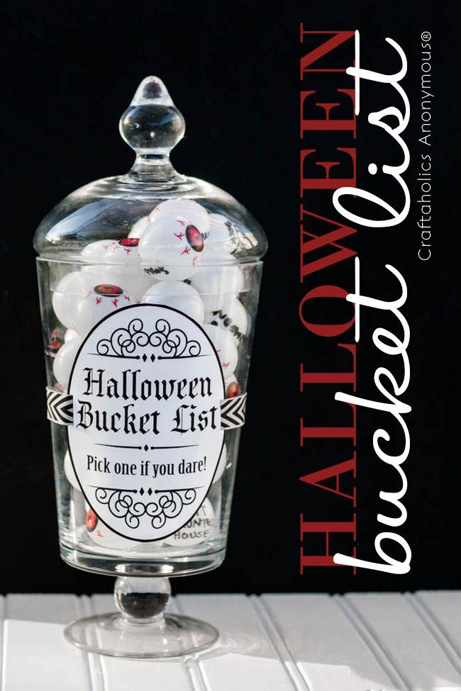 Craftaholics Anonymous® | Halloween Bucket List + Free Printable