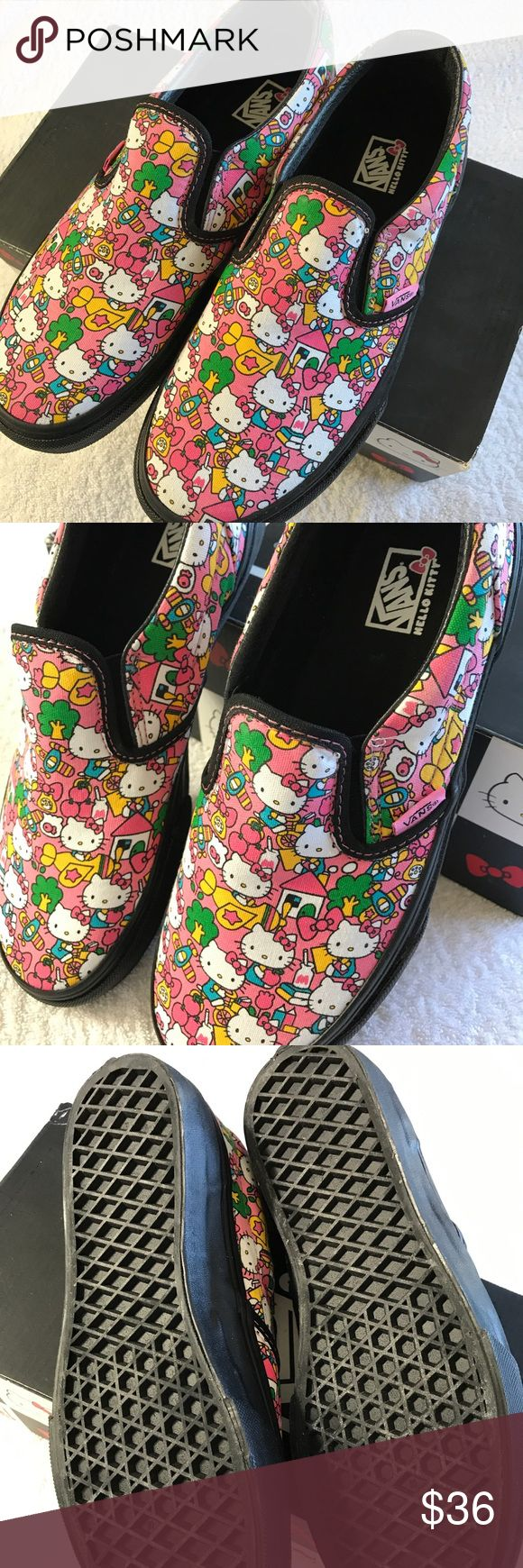 Hello Kitty Vans New condition. Authentic Hello Kitty Vans. Youth size 4;  possibly