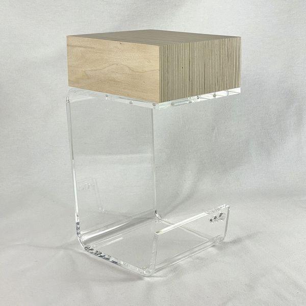 Bout De Canape Plexi Peuplier Un Design Cocooning Cube Bois Brut Lampe De Chevet Bois Cube En Bois