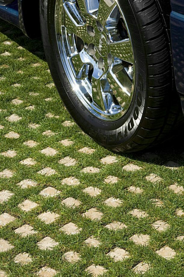 Walkable Ground Cover Grass Pavers Permeable Driveway