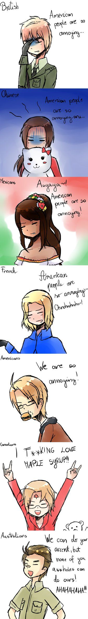 APH: Americans are so annoying... by CrazyRaiPie on deviantART
