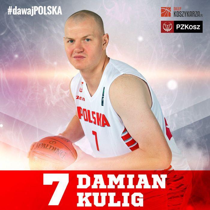 Damian Kulig (#7) - silny skrzydłowy / środkowy  Reprezentant Polski w Koszykówce
