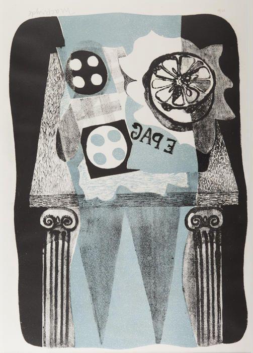 Still Life I, 1960, lithograph by Robert MacBryde (Scottish 1913–1966)