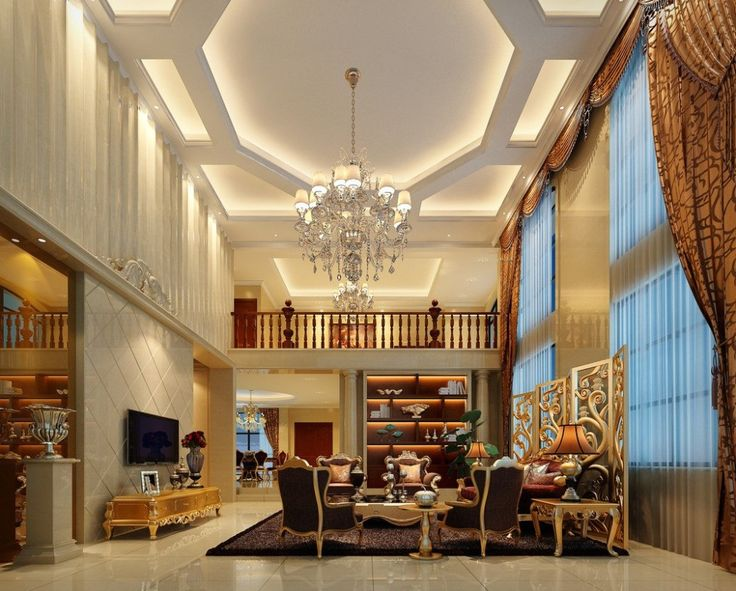 Interior:Fascinating Neo Classical Living Room Design Idea With Dark Brown Armchairs Brown Desk Lamps And White Chandelier Luxury Neo Classical Interior Design Ideas Classical Interior Design Ideas