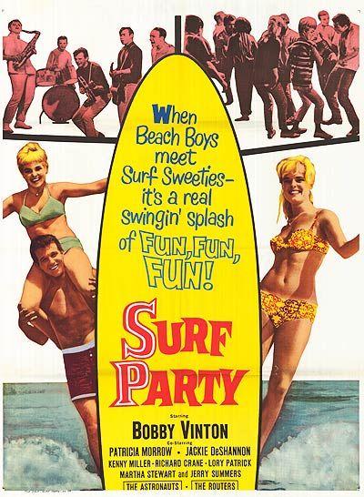 Surf Party (1964). Starring: Bobby Vinton, Lory Patrick, Richard Crane and Martha Stewart