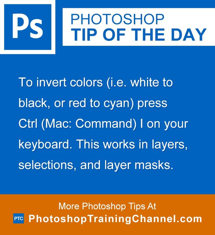 to invert colors i e white to black or red to cyan press ctrl mac