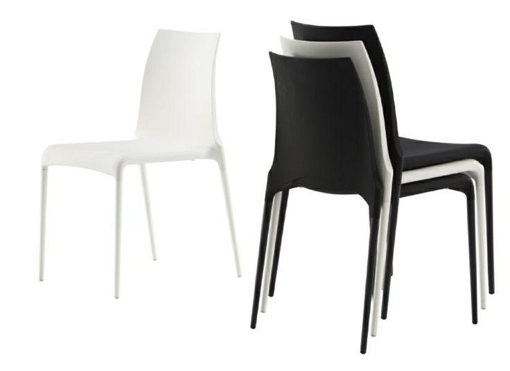 Petra Stackable PU chair. 83h x 42w x 51.5d cm.