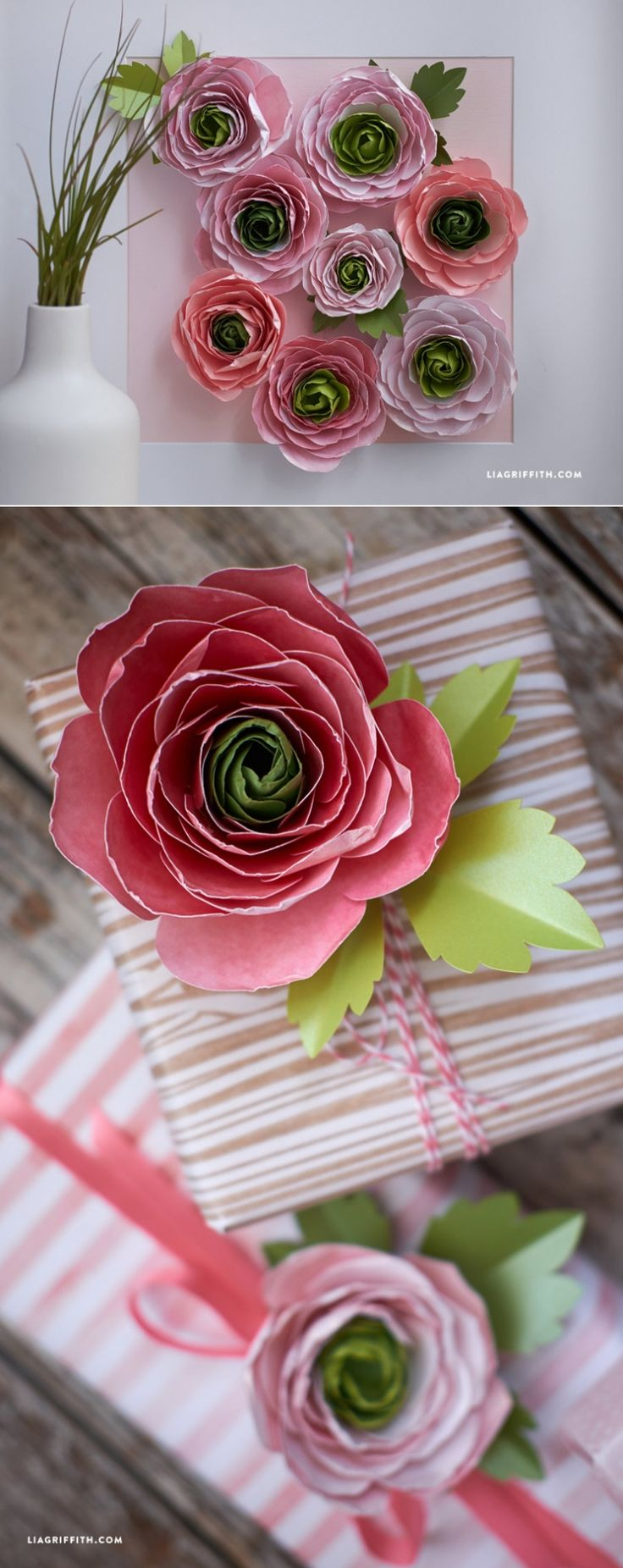 #PaperRanunculusFlowers #Paperflowers www.LiaGriffith.com: