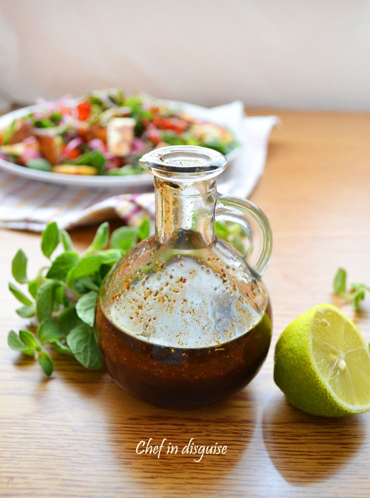 Pomegranate molasses salad dressing -- this is perfect. used white balsamic instead of white wine vinegar, it's sweeter.