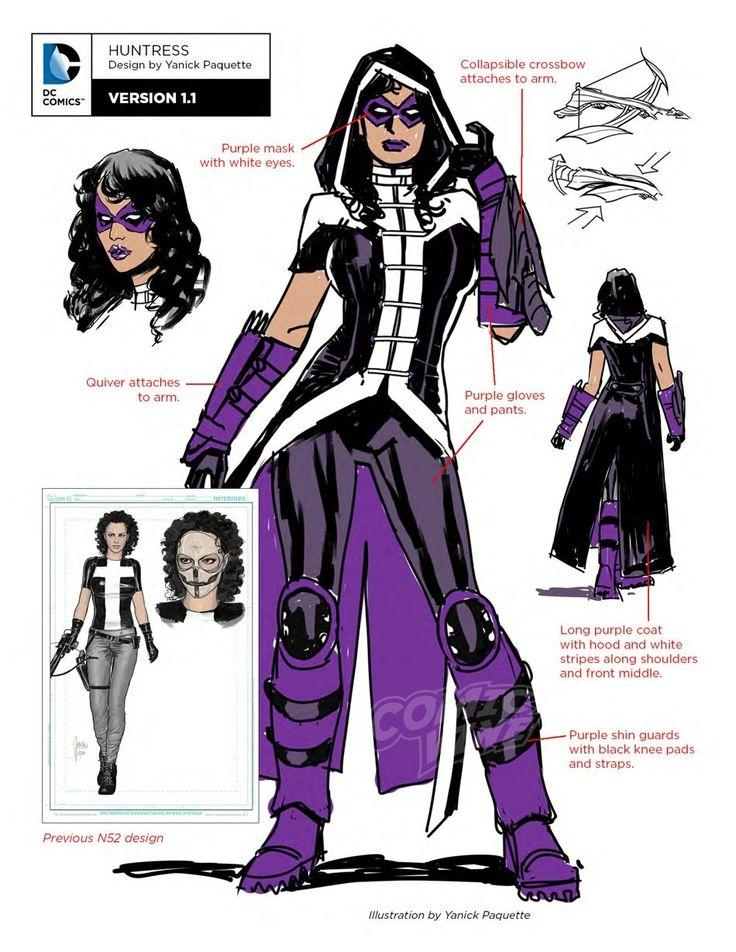 Exclusive: DC Rebirth Character Designs, Huntress - Comic Vine