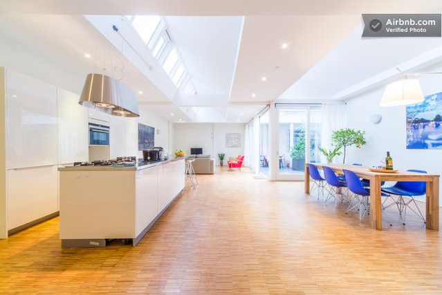 Great Bed & Breakfast of a friend of mine. The positive reviews speak for themselves: Bright, Open, Design Apt in Centre in Amsterdam.