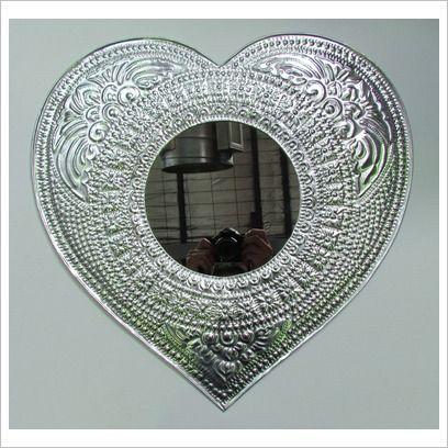 Heart Embossed Mirror Ishka