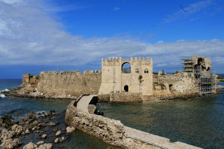 Methoni Castle, Methoni, Messenia, Peloponnese, Greece. Makes an excellent day trip from Pylos!