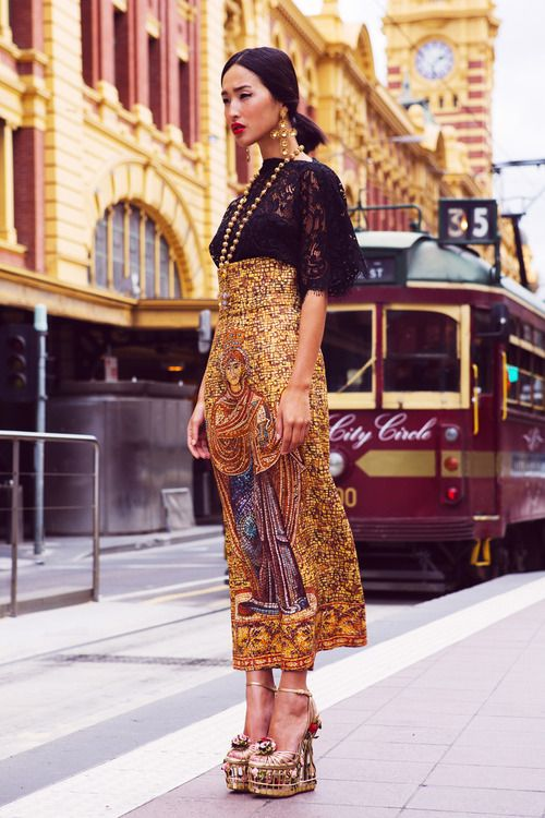A Dolce & Gabbana Fall 2013 RTW editorial with Nicole Warne, photographed by Luke Shadbolt in Melbourne, Australia, September, 2013.