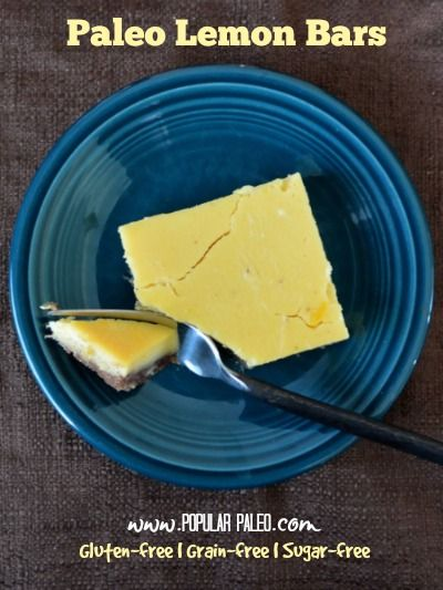 Paleo Lemon Bars on www.PopularPaleo.com | Dairy free, gluten free and refined sugar free -- eat up!
