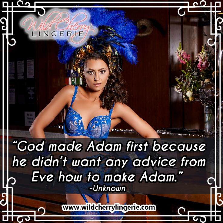 """God made Adam first because he didn't want any advice from Eve how to make Adam."" -Unknown   Daniella Blue Collection Super Push Up Bra 70A-85C G-string Knickers XS-XL Suspender Belt  XS-XL Thigh Length Stockings S-XL  Available for wholesale. PM For more information ☎️   #fashionaustralia #australia  #aus #vic #qld #nsw #act #victoria #queensland #newsouthwales"