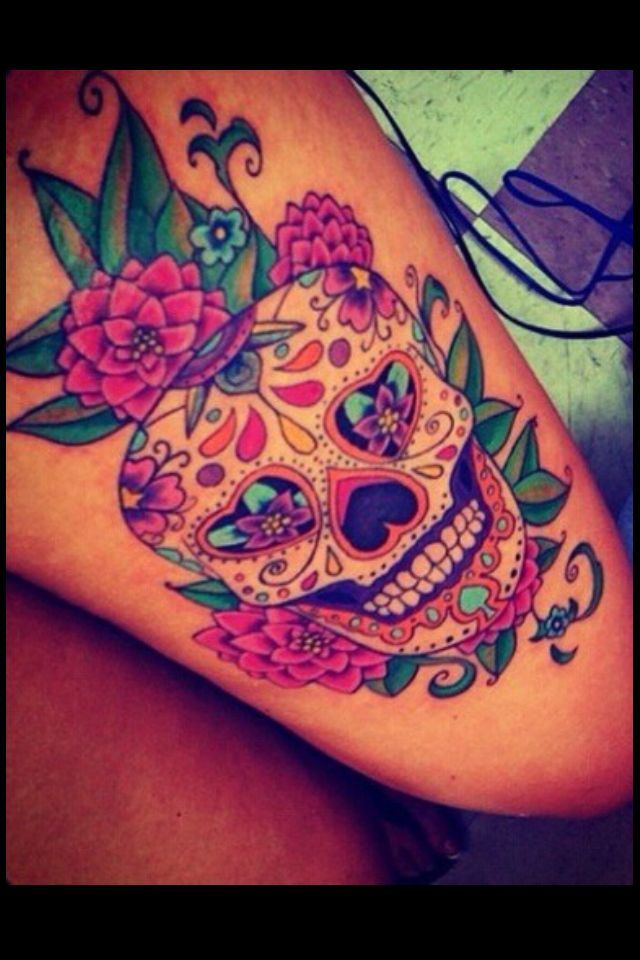 Image result for sugar skull with cross on forehead tattoo for Cross tattoo on forehead meaning