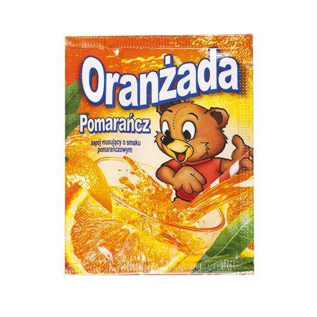 """Ulubiona przekąska każdego dziecka znana pod nazwą  """"orenżada"""". Dostępna w torebkach, później pojawiła się także w papierowych rurkach o jaskrawych kolorach."""