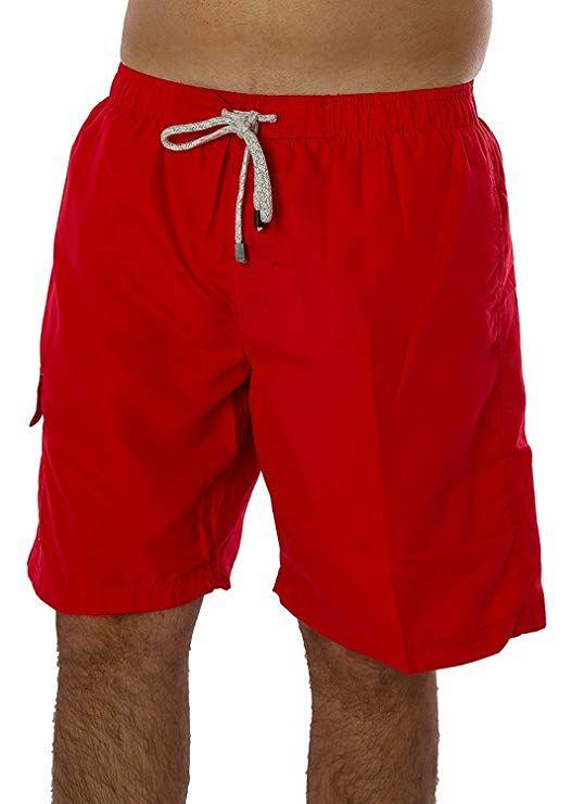 e385bfe3af Exist Solid Color Men's Swim Trunk, Red, XL | Baywatch | Pinterest ...