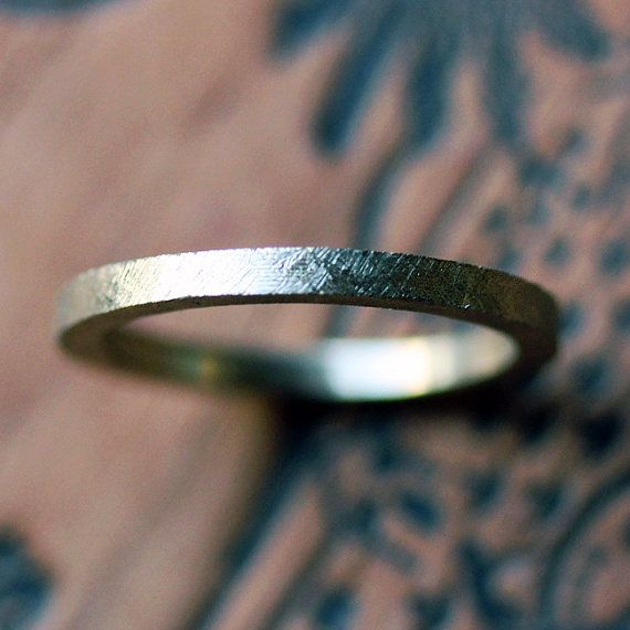 18k gold wedding band, gold wedding ring, yellow gold, texture, 2mm womens wedding ring, made to order