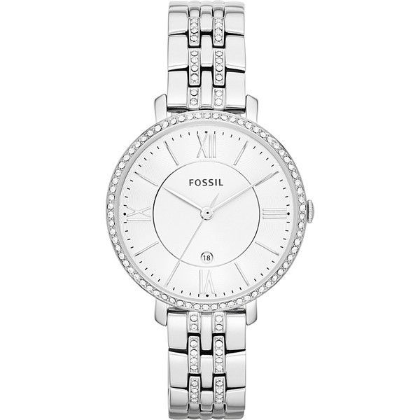 Fossil Women's Jacqueline Bracelet Watch ($135) ❤ liked on Polyvore featuring jewelry, watches, fashion accessories, metalic, bracelet wrist watch, metal jewelry, fossil jewelry, fossil watches and metal bracelet - online watches for womens, womens white watches, designer womens watches sale