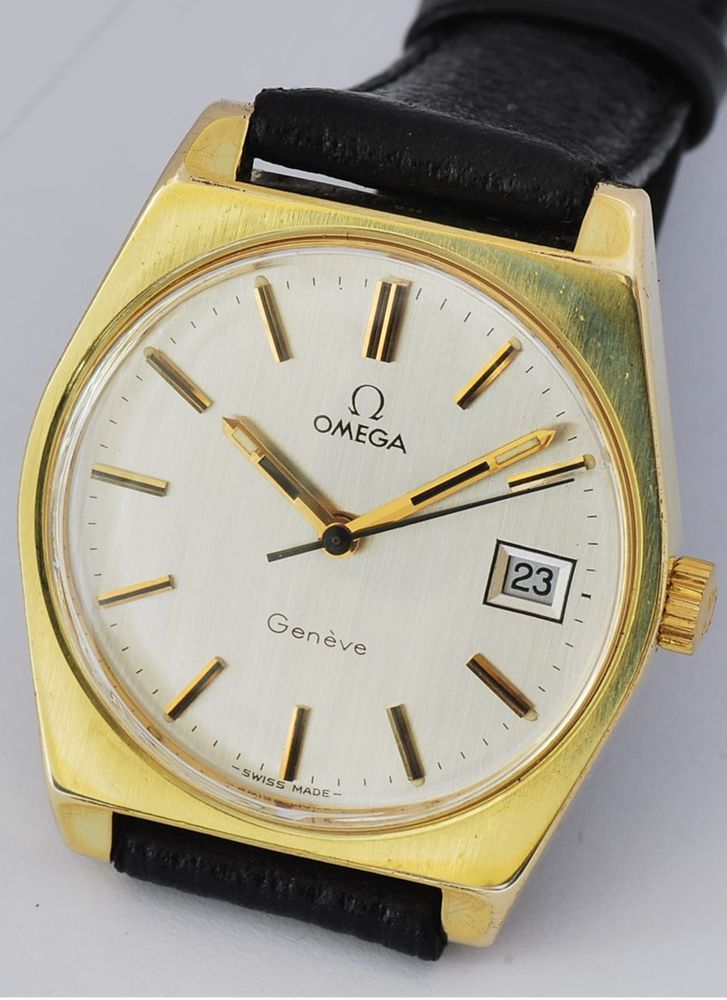 CLASSIC GENTS OMEGA GENEVE WATCH, 1972 MANUAL WIND CAL 613, AUTHENTIC. No 165