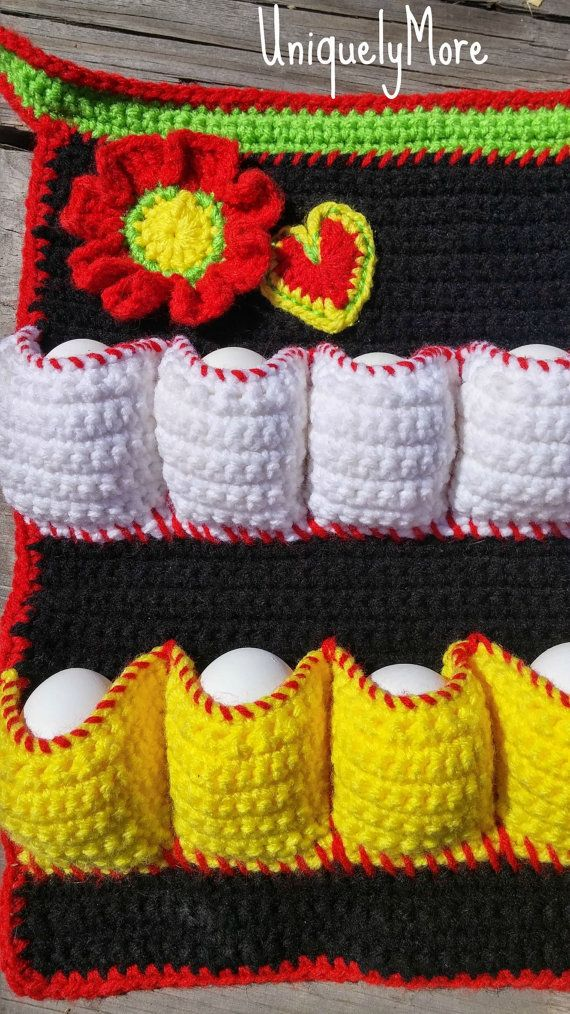 Crochet pattern for an egg gathering apron instant download i played