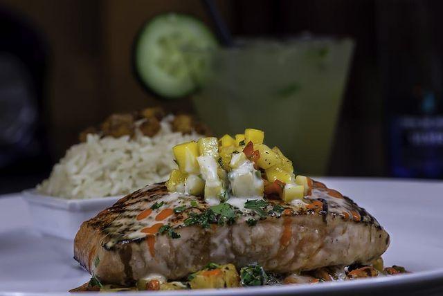 Luna Modern Mexican Kitchen On Instagram One Of Our Luna Favorites Salmon Zarandeado Lunammkvg Victoriagardens Ranchocucamo Mexican Kitchens Food Salmon