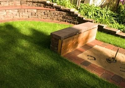 horseshoe pit...easy backyard upkeep!- this would be perfect in moms backyard!