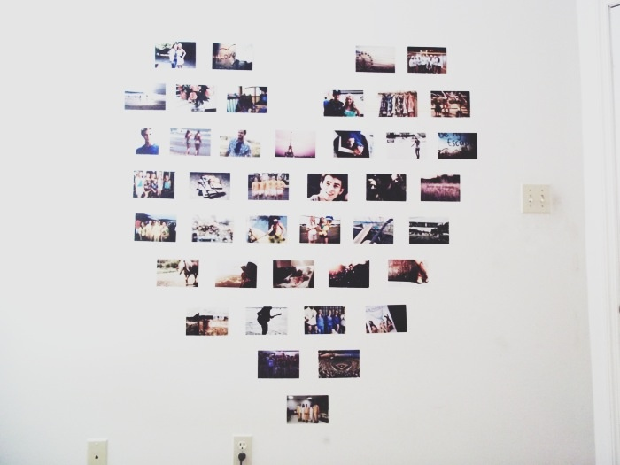 Valentine's Day Craft Ideas:  Heart Shaped Photo Collage  This collage is the perfect item to make any room look a little nicer. The great thing about this craft is that it doesn't only have to be used for Valentine's Day, it can look nice at any time! All you need is 41 developed/printed pictures to create this cute wall design perfect for any occasion.
