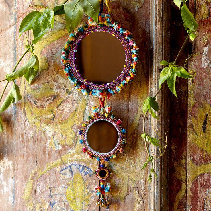 Set of 2 Sapera Mirrons  ~ Hand-Crafted by artisans in India via worldmarket.com/craft #CRAFTBYWORLDMARKET