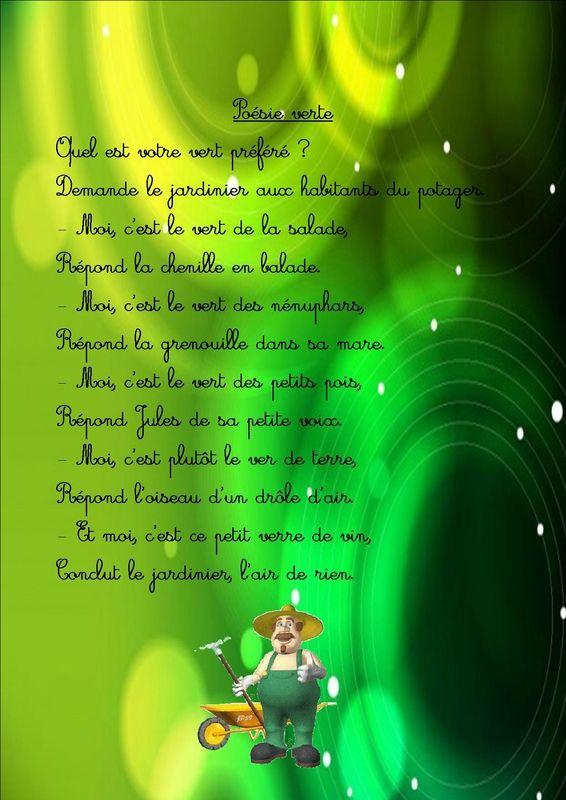 poésie verte