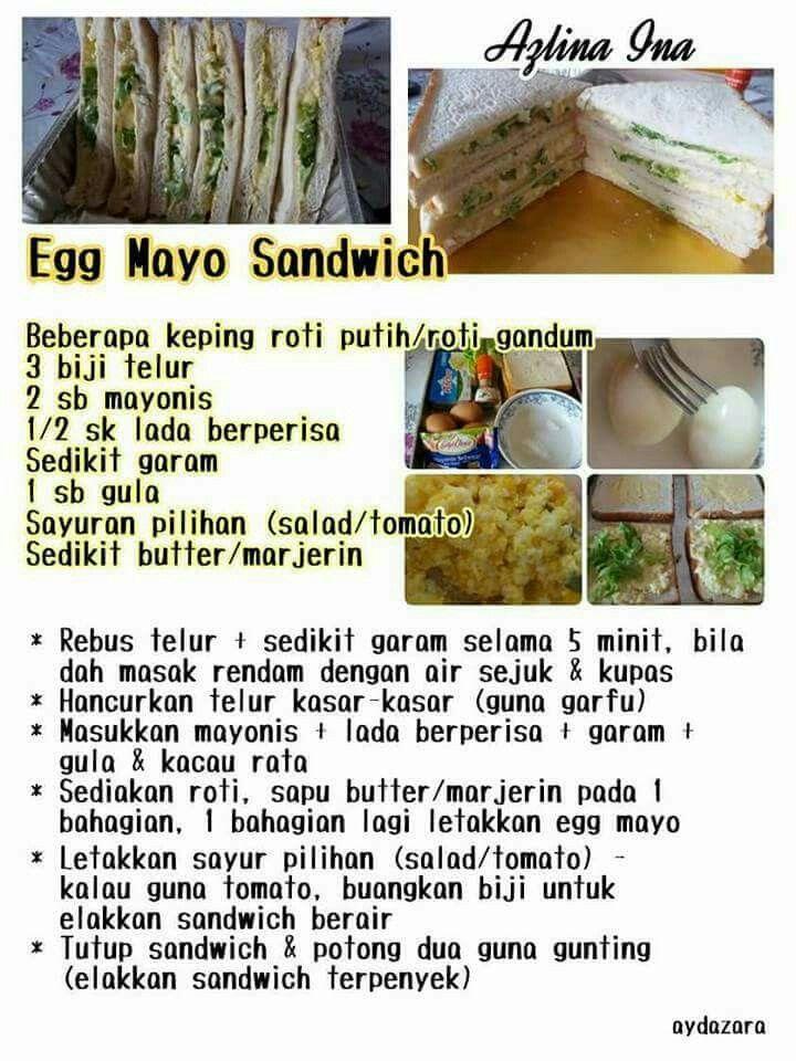 resepi salad telur roti kirai resep   dibuat sejak   negara tersebut  bisa Resepi Roti Telur Pedas Enak dan Mudah