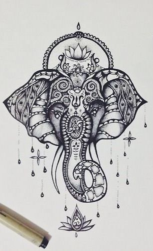 Elefante mandalas