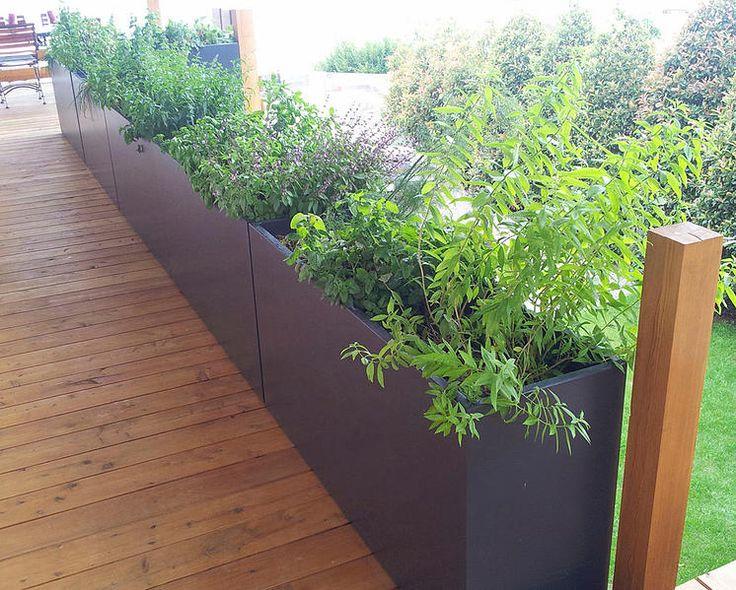 Aluminium bloembakken, boombakken, haagbakken, plantenbakken (verkrijgbaar op maat en in verschillende kleuren)