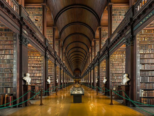 32 of the World's Most Gorgeous Libraries (Trinity College Old Library, Ireland). *drool*