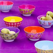 These are the cutest little bowls! I love the colors.