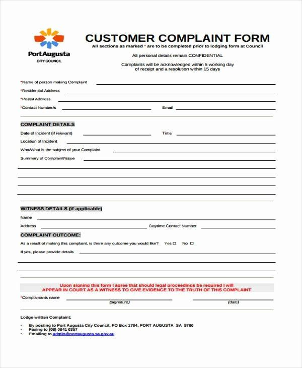 Customer Complaint Form Template Best Of Customer Plaints Form Template Customer Complaints Templates Incentives For Employees